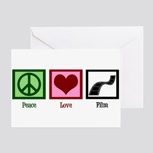 Peace Love Film Greeting Card