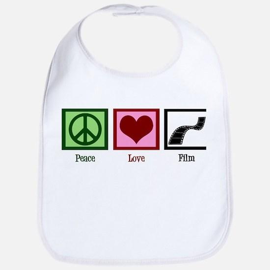Peace Love Film Bib