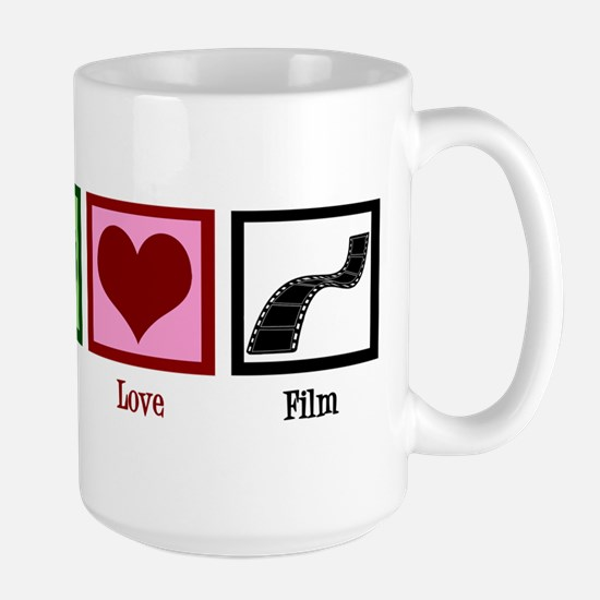 Peace Love Film Large Mug