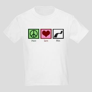 Peace Love Film Kids Light T-Shirt
