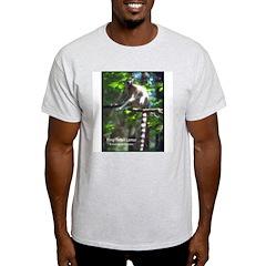 Ring-Tailed Lemur Photo (Front) Ash Grey T-Shirt
