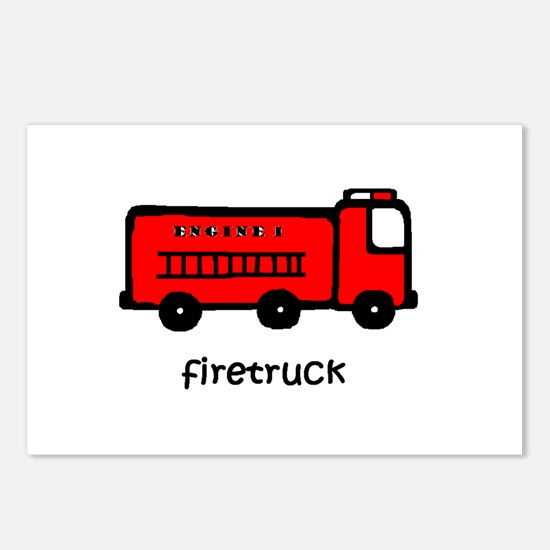 Firetruck Postcards (Package of 8)