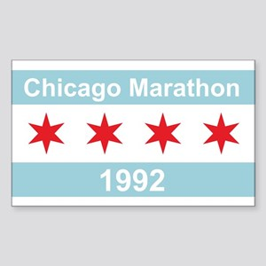 1992 Chicago Marathon Sticker (Rectangle)