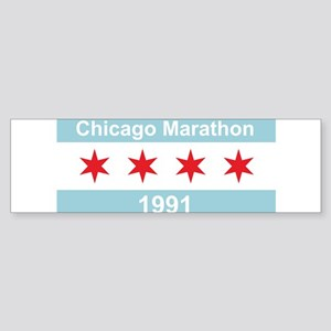 1991 Chicago Marathon Sticker (Bumper)