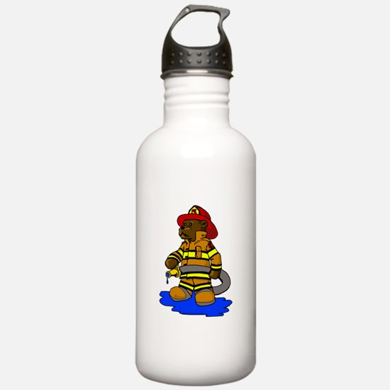 Mike the Firefighter Bear Water Bottle