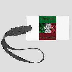 Italian Flag Large Luggage Tag