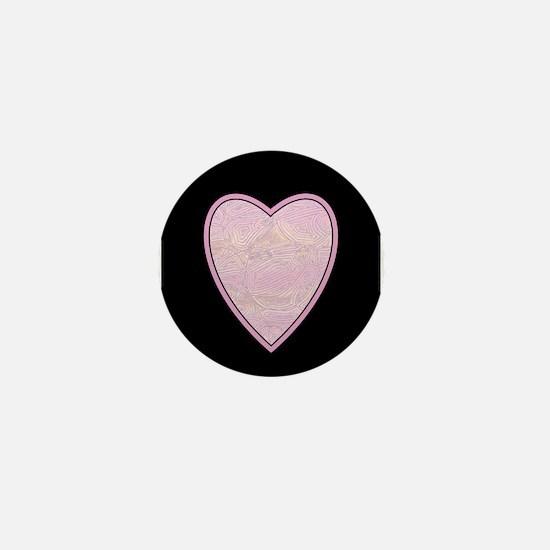 Sunset Pink Heart Mini Button