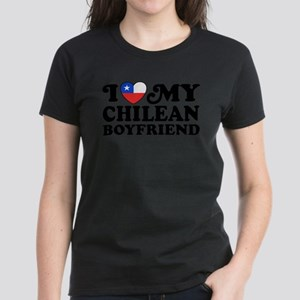 I Love My Chilean Boyfriend Women's Dark T-Shirt