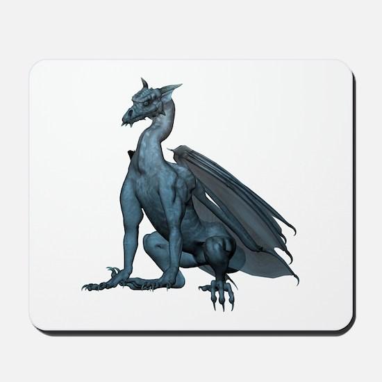 Sitting Blue Dragon (2) Mousepad