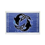 2Dolphins Rectangle Magnet
