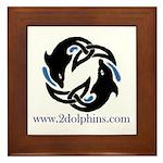2Dolphins Framed Tile