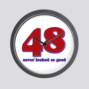 48 years never looked so good Wall Clock