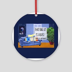 Lazy v Relapse Ornament (Round)