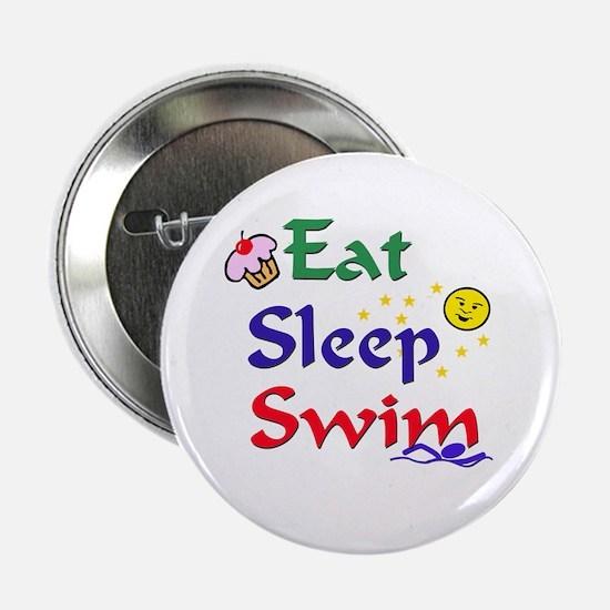 "Eat Sleep Swim 2.25"" Button (10 pack)"