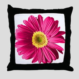 Pop Art Fuchsia Daisy Throw Pillow