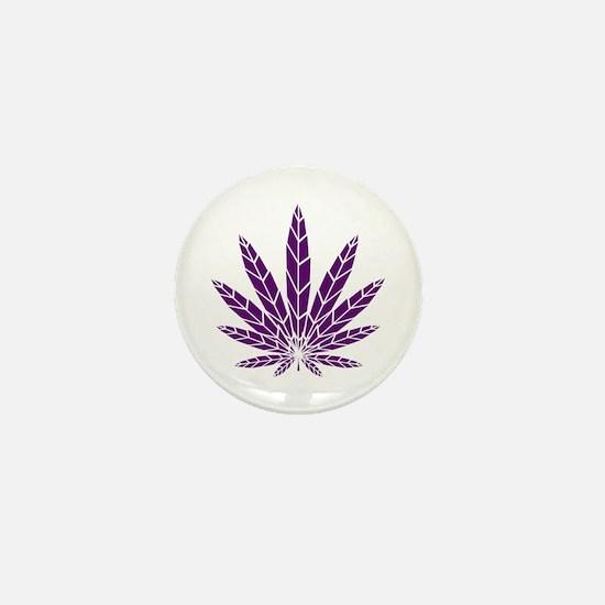 Purple Leaf Mini Button