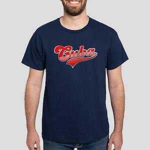 Cuba Red Logo Dark T-Shirt