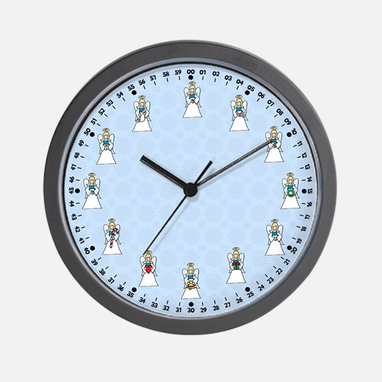 Christmas Angels Wall Clock