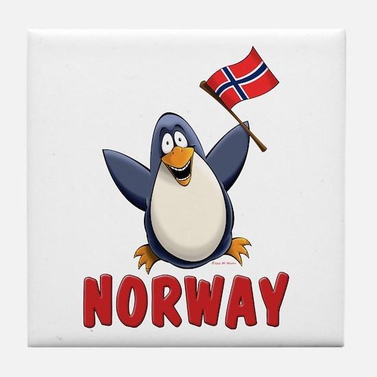 Norway Penguin Tile Coaster