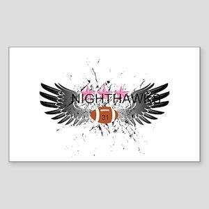 Nighthawk Wings Sticker (Rectangle)