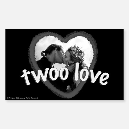 Twoo Love Princess Bride Sticker (Rectangle)