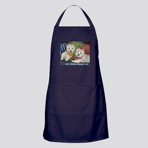 WESTIE LET A WESTIE RESCUE YOU! Apron (dark)