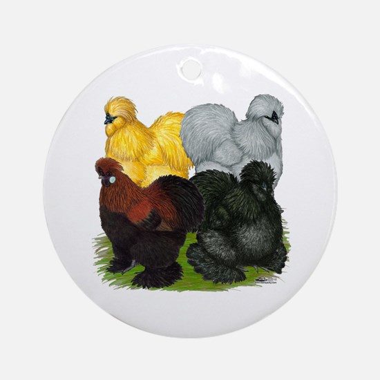 Silkie Assortment Ornament (Round)