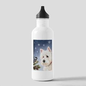 WESTIE WINTER WONDERS Stainless Water Bottle 1.0L