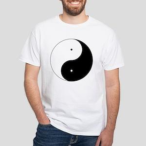 Daoism Yin & Yang White T-Shirt