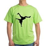 Breakdancing Green T-Shirt