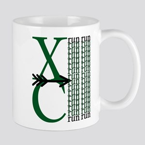 XC Run Dark Green White Mug