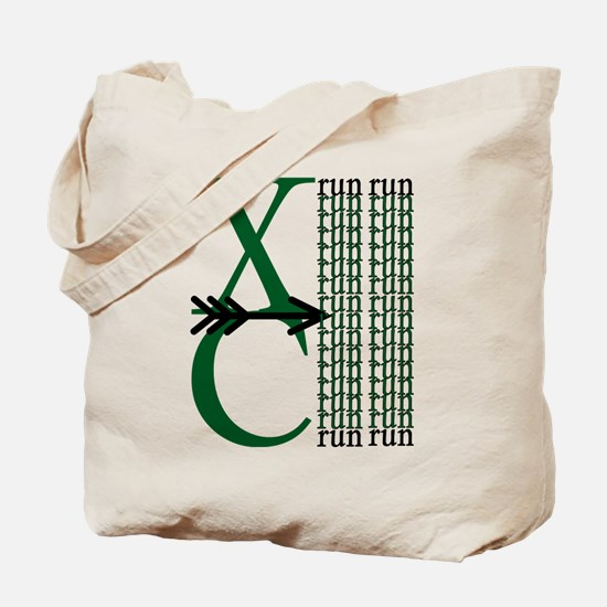 XC Run Dark Green White Tote Bag