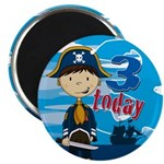 Adorable Pirate Boy 3rd Birthday Magnet