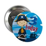 "Adorable Pirate Boy 3rd Birthday 2.25"" Button"