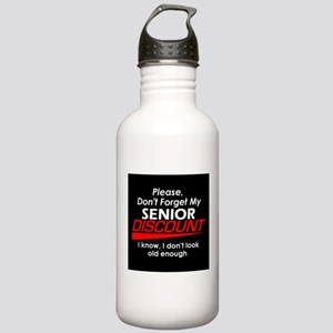 Senior Discount Stainless Water Bottle 1.0L