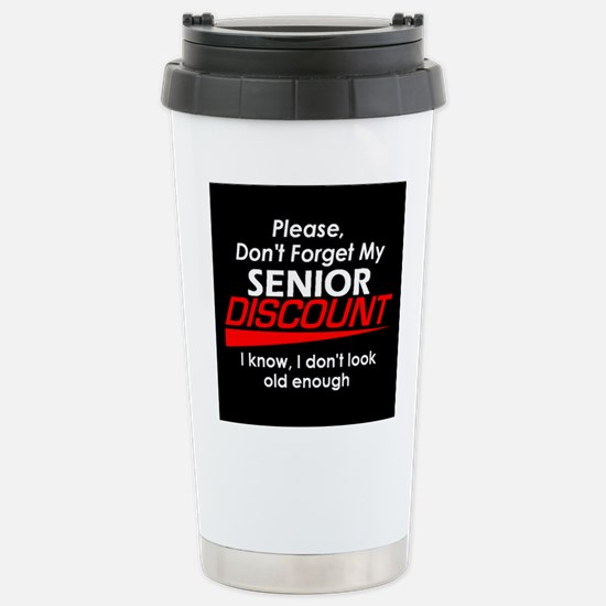 Senior Discount Stainless Steel Travel Mug