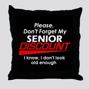 Senior Discount Throw Pillow