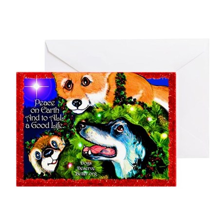 """Good Life"" Holiday Designs Greeting Card"