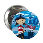 "Pirate Girl 10th Birthday 2.25"" Button (10 P)"