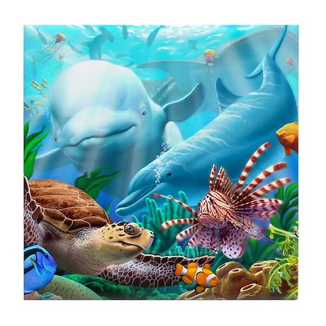 Seavilions Tile Coaster
