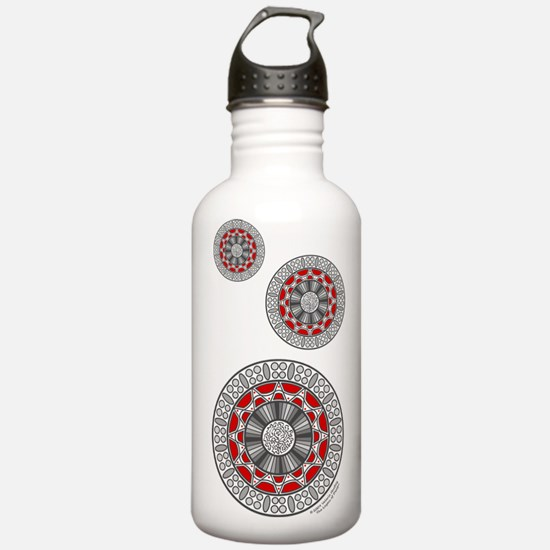 Aztec Meets Alien Water Bottle