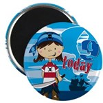 "Pirate Girl 9th Birthday 2.25"" Magnet (10 Pk)"