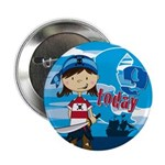 "Cute Pirate Girl 9th Birthday 2.25"" Button"