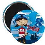 Cute Pirate Girl 8th Birthday Magnet
