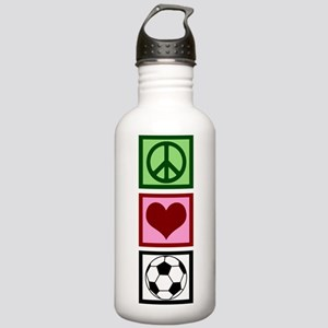 Peace Love Soccer Stainless Water Bottle 1.0L
