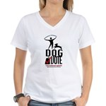 Dog the Vote: No Chains Women's V-Neck T-Shirt