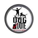 Dog the Vote: No Chains Wall Clock
