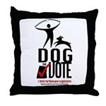 Dog the Vote: No Chains Throw Pillow