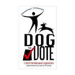 Dog the Vote: No Chains Sticker (Rectangle)