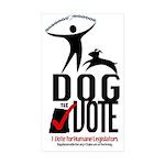Dog the Vote: No Chains Sticker (Rectangle 10 pk)